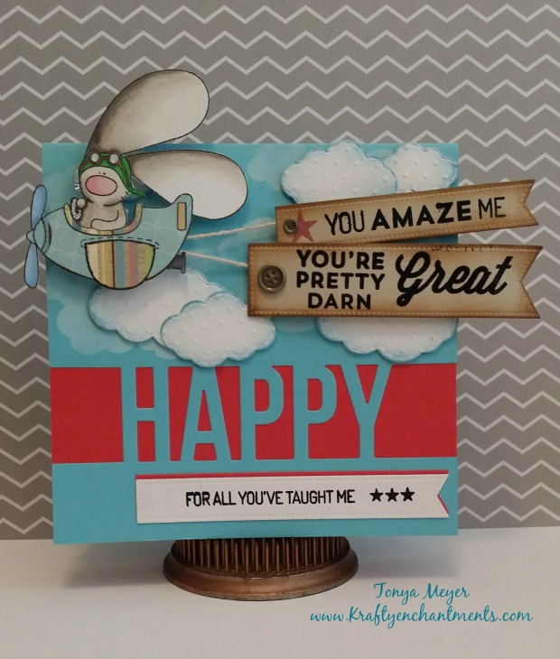 Father's Day card using Takeoff Stamp Set from The Cat's Pajamas