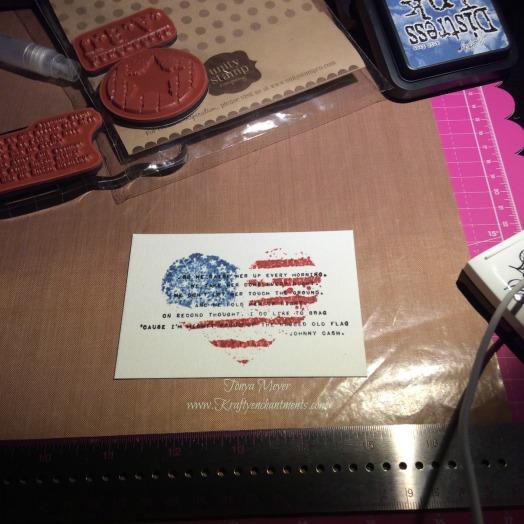 Unity Stamp Company Rugged Ol' Flag
