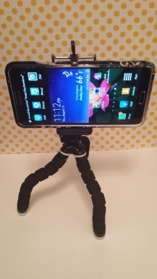 Tripod with Samsung Galaxy Note 3.