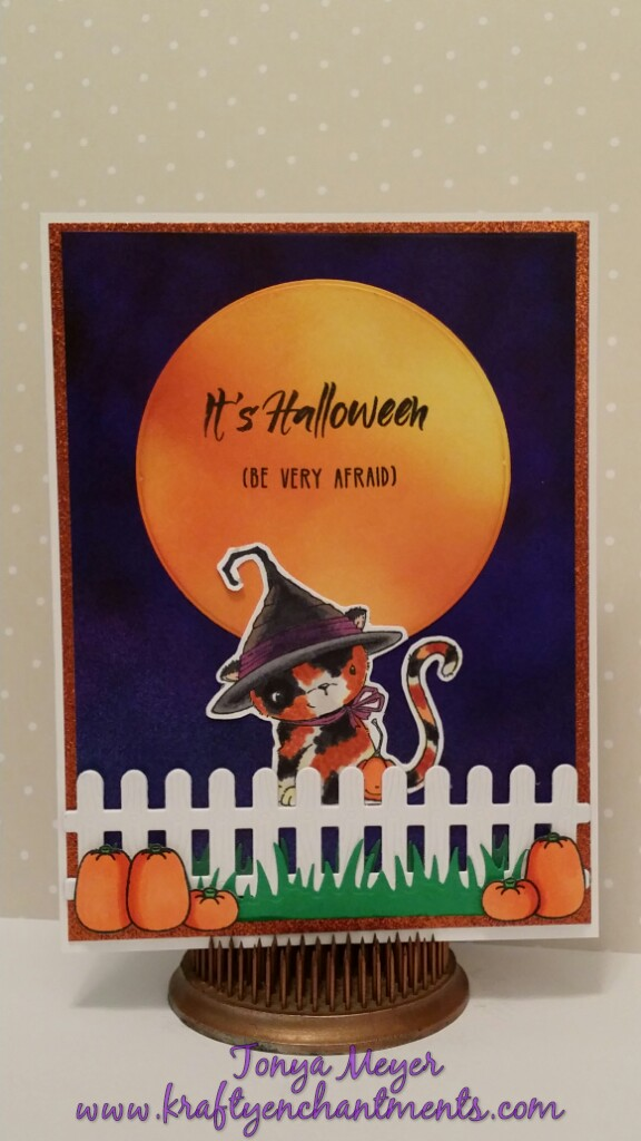 Halloween Card featuring Midnight the Kitten from Purple Onion Designs