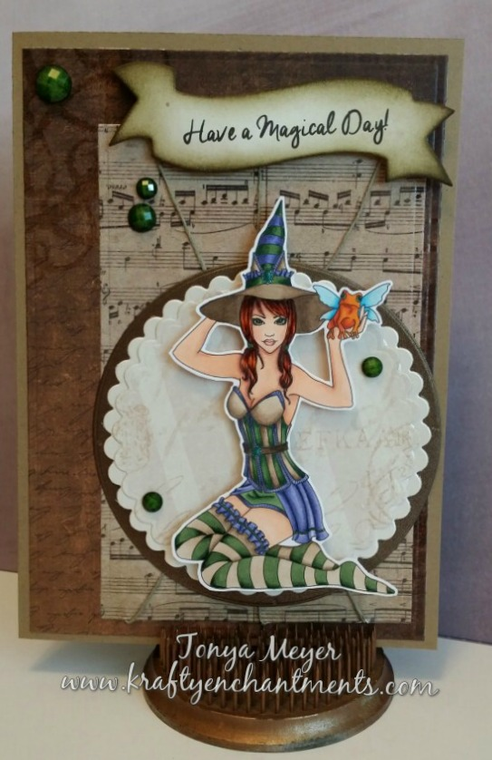 Ashlyn completed A7 size card