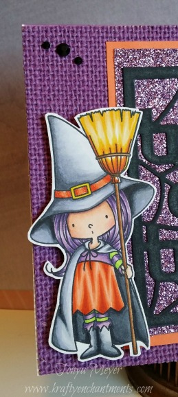 Cute witch from Birdy Browns, Witch Way to the Candy stamp set