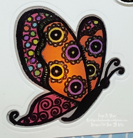 Butterfly tent closeup card 2