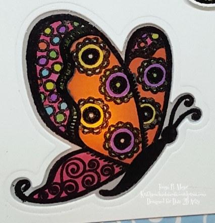 Butterfly tent closeup card 2